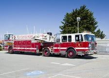 旧金山, 2017年4月15日, -旧金山部门消防车,加利福尼亚, 2017年 免版税库存图片