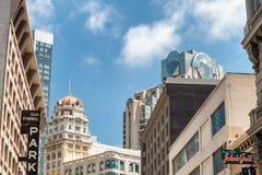 旧金山- 2017年8月6日:农贸市场五颜六色的大厦 免版税库存照片