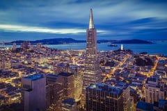 旧金山财政区鸟瞰图 库存照片