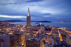 旧金山财政区鸟瞰图 免版税库存照片