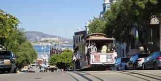 旧金山- 11月3日:缆车电车, 11月3日, 图库摄影