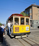 旧金山- 11月3日:缆车电车, 11月3日, 免版税库存照片