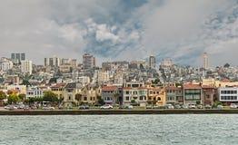 旧金山从海湾的市视图 免版税库存图片