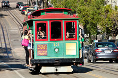 旧金山-缆车电车 免版税图库摄影