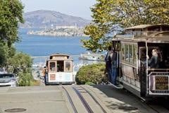 旧金山-缆车电车 库存照片