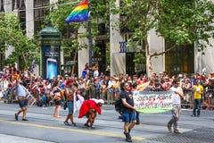 旧金山代表的骄傲游行变化 库存图片
