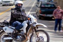 旧金山-警察摩托车 图库摄影