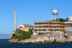 旧金山Alcatraz模型产业修造 库存图片