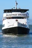 旧金山Alcatraz飞行物游览小船 免版税库存照片