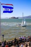 旧金山Alcatraz,航行,码头39 免版税库存照片