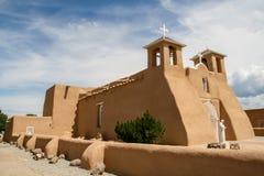 旧金山de阿西西使命教会在新墨西哥 免版税库存图片