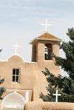 旧金山de阿西西使命教会在新墨西哥 图库摄影