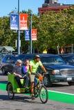 旧金山Embarcadero Pedicab自行车出租汽车 免版税库存照片