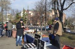 旧货物交换会索非亚,保加利亚, 2014年1月 库存照片