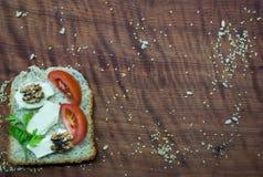 早午餐时间:健康和鲜美食物 免版税库存照片