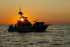早捕鱼起始时间 库存图片