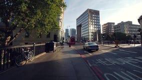 早晨交通在伦敦 股票视频