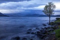 早晨光湖toya北海道多数普遍的travelin一  免版税库存照片