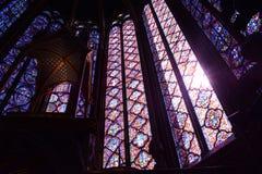 早晨光的圣Chapelle 免版税库存图片