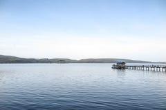 早晨光, Tomlaes海湾 免版税库存图片