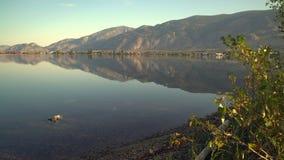 早晨反射, Osoyoos湖移动式摄影车射击了4K UHD 股票视频
