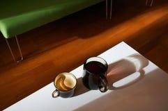 早晨咖啡和茶 免版税库存图片