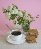 早晨咖啡用曲奇饼 免版税图库摄影