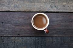 早晨咖啡的看法是热的 免版税库存图片