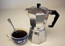 早晨咖啡静物画 免版税库存图片