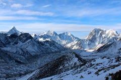 早晨在喜马拉雅山 免版税库存图片