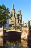 早晨在圣彼德堡,俄罗斯 免版税库存照片