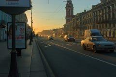 早晨在城市 库存照片
