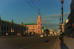 早晨在城市 图库摄影