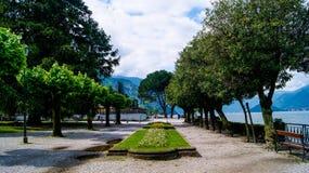 早晨在贝拉焦,科莫湖 库存图片
