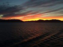 早晨在阿拉斯加 免版税库存照片