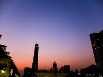 早晨城市 免版税库存图片
