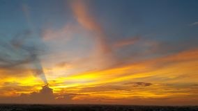早晨壮观的光 库存图片