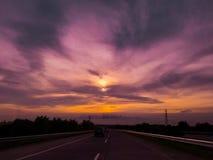 早晨天空的自然颜色 免版税库存照片