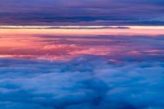 早晨天空从上面 图库摄影