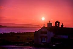 早晨太阳在爱尔兰 免版税库存照片