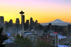 早晨好西雅图 免版税库存照片