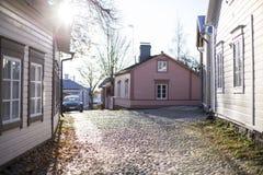 早晨好/波尔沃/早晨/Finland 免版税库存图片