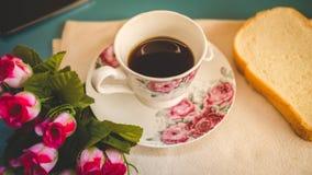 早晨对您喜爱的咖啡是完善的, 图库摄影