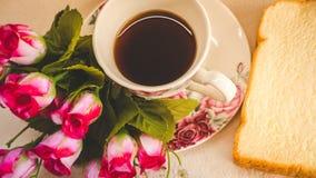 早晨对您喜爱的咖啡是完善的, 库存图片