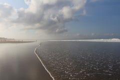 早晨尖叉在印度洋 免版税库存图片