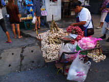 早晨市场在曼谷 免版税库存图片