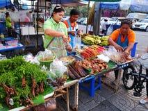 早晨市场在泰国 免版税库存照片