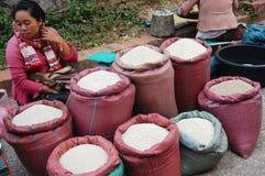 早晨市场在琅勃拉邦,老挝 库存图片