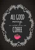 早晨开始用咖啡 免版税库存照片
