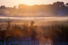 早晨日出横向 库存图片